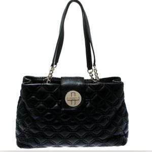 Kate Spade Elena Court Black Quilted Leather Bag